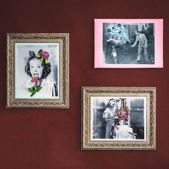 モノクロの世界に遊び心の花を咲かせる 刺しゅうで楽しむフォトアートの会