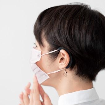 ラミプリュス 耳の痛み対策! ピアス付きマスクの耳ひもカバーの会