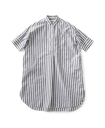 and myera ストライプなロングシャツ