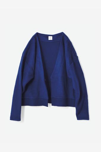 avecmoi シャギーカーディガン〈ブルー〉