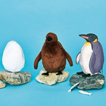 You+more! Eggs → chicks → Adult Penguins! ? Evolving penguin plushie