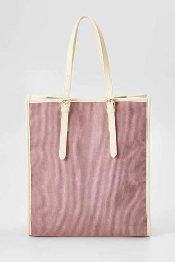 OSYAIRO ジャンボうちわが入るコーデュロイトートバッグ〈ピンク〉