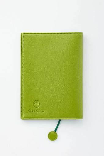 OSYAIRO フォトポケット付き文庫本&手帳カバー〈緑〉