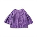 and myera 紫色のリネントップス