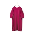 Sunny clouds bubble sleeves one-piece tunic