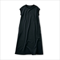 Sunny clouds No-sleeves Black one-piece dress