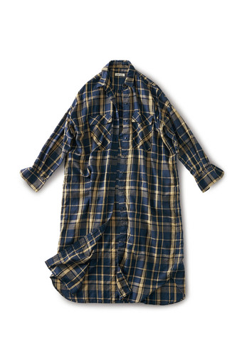 and myera Autumn check shirt dress