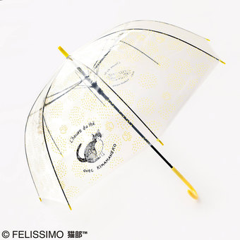 Felissimo Nekobu vinyl clear umbrella (by illustrator Ms.Matsuo Miyuki)