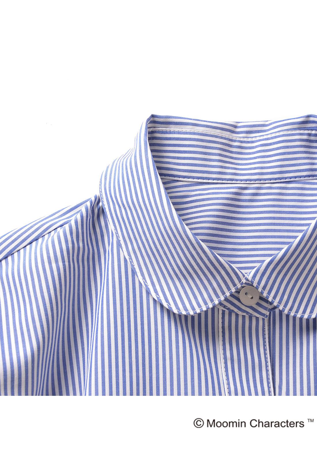 衿やカフスは本格仕様。きちんとしているのにレースはニョロニョロというギャップにキュン。