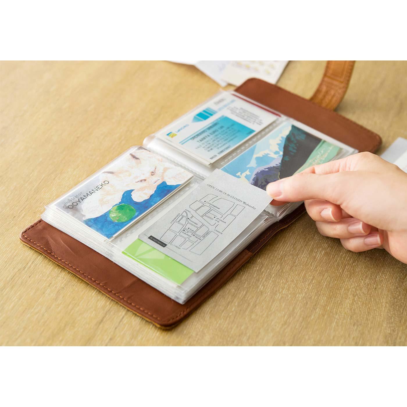 カードファイル 診察券やポイントカード、名刺をたっぷり100枚収納。かわいいショップカードのコレクション用にも。 ■サイズ/縦約14cm、横約14cm、まち幅約2.5cm ※縦約6.5cm、横約9cmまでのカードサイズが収納できます。