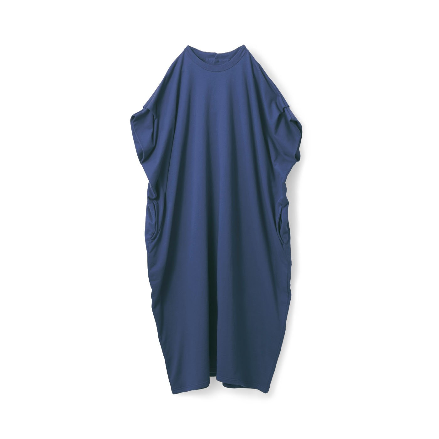 アヴェクモワ カットソーサックドレス〈青〉