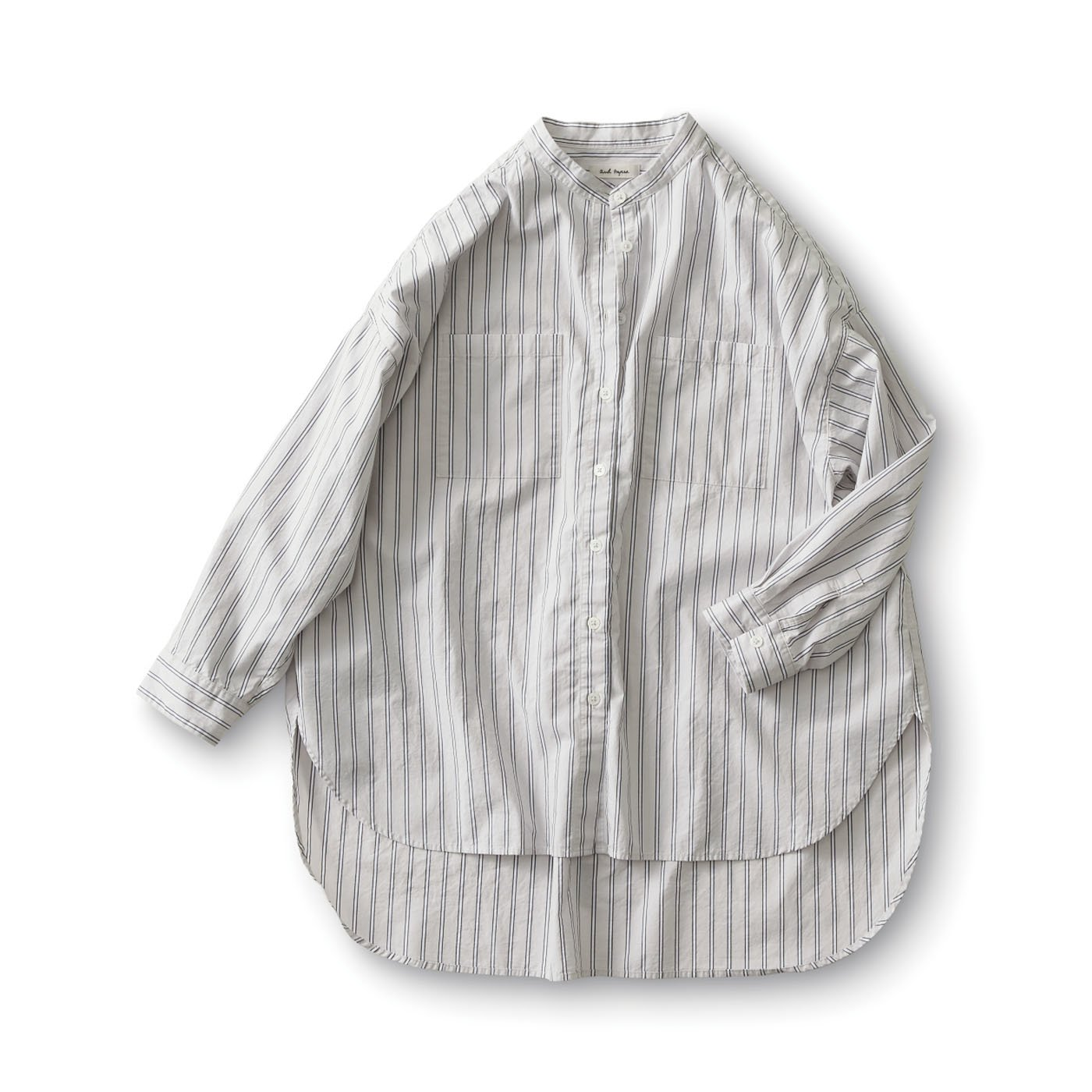and myera オーバーサイズストライプシャツ