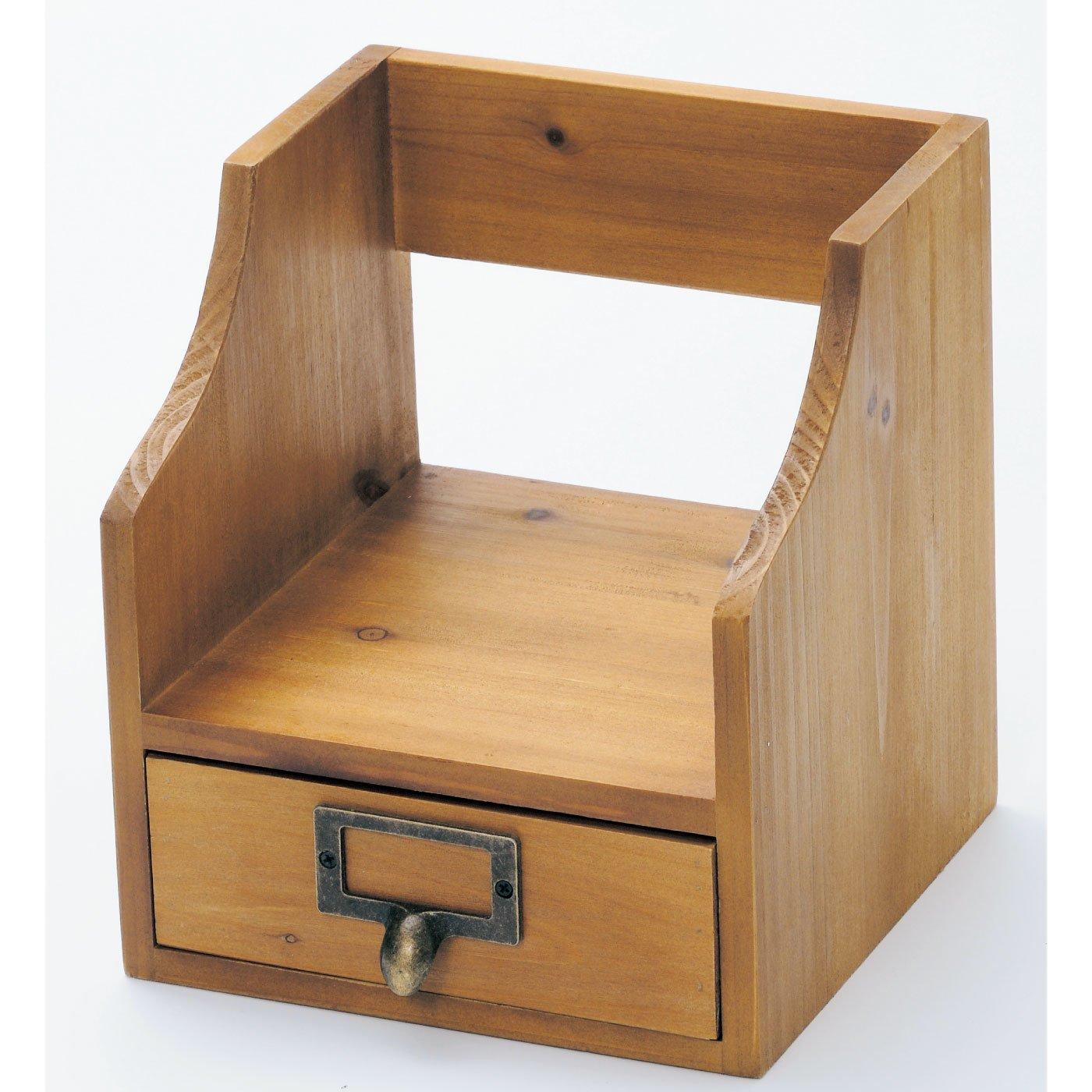 あたたかみのある木製アンティーク風 ブックスタンド