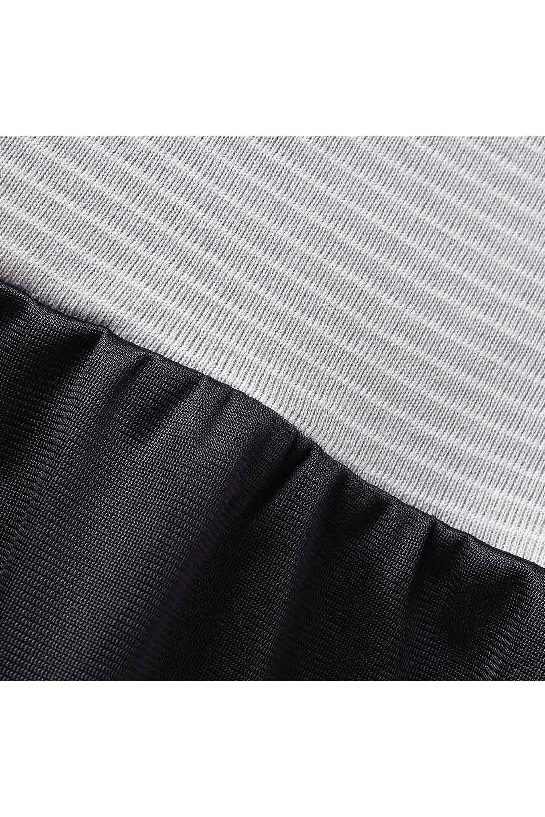 スカート部分の素材は、裏起毛をほどこしたやさしい肌ざわり。