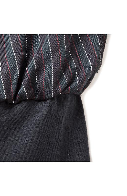 ウエストのところで、スパッツとスカートがくっついているスカッツ仕様です。