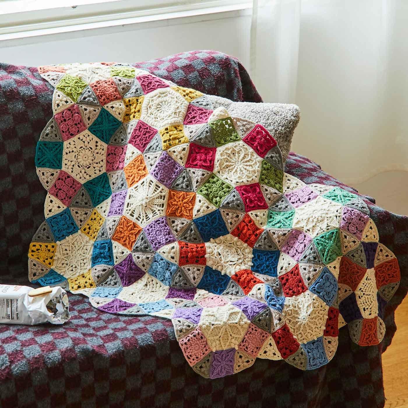 多角形をつないで彩るハーモニー かぎ針編みモチーフの会
