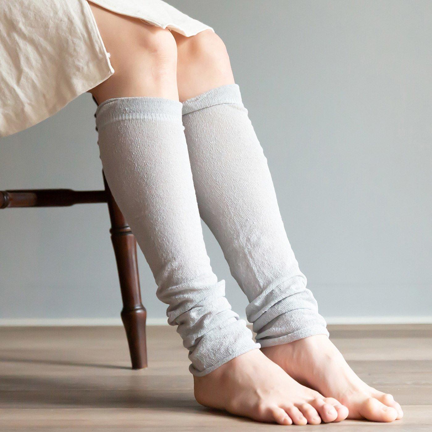 【兵庫県】丸編み製法で 肌に縫い目があたらない シルクのレッグウォーマーの会(4回予約)