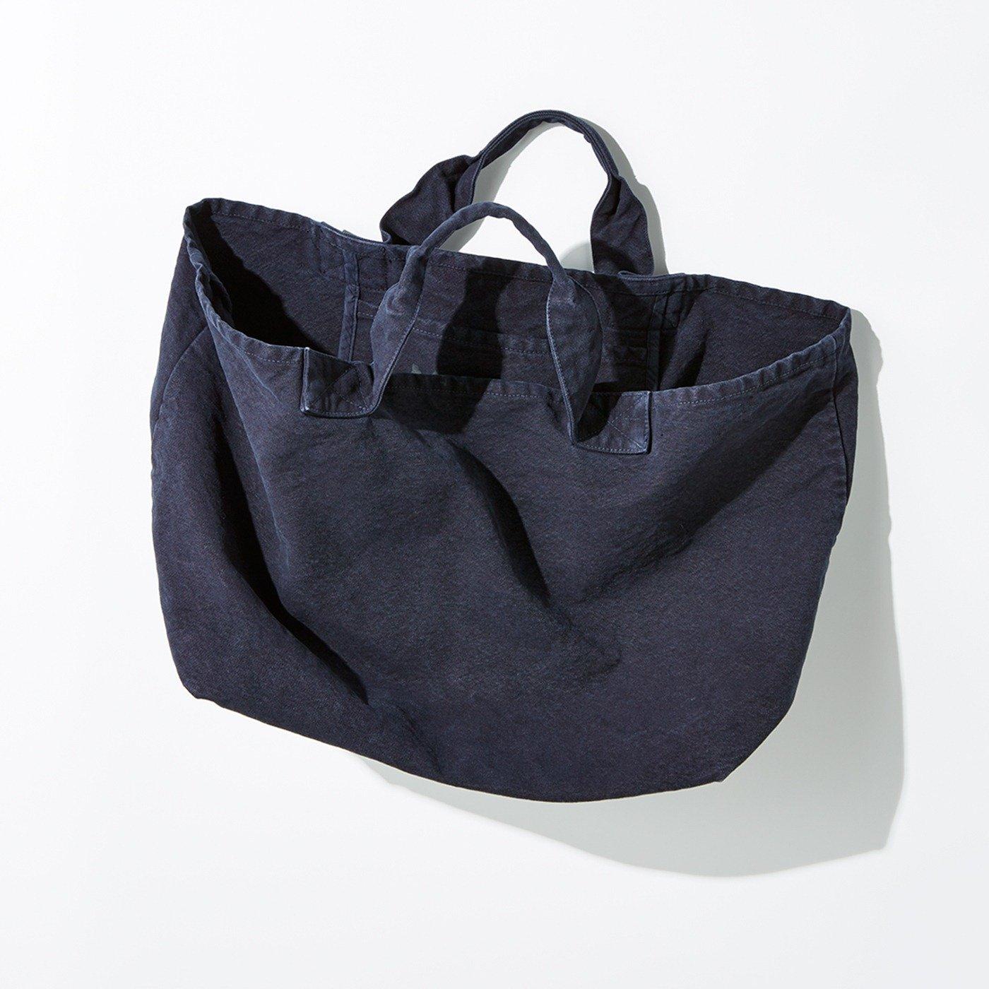 MEDE19F 製品染めコールバッグ〈ネイビー〉