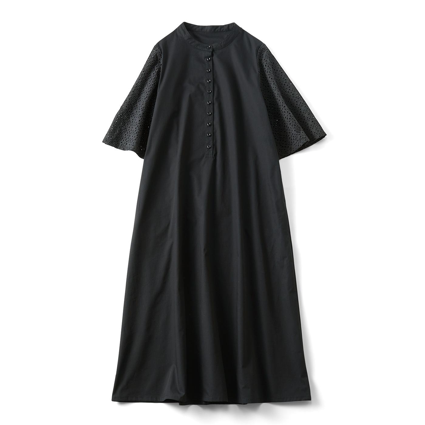 【3~10日でお届け】ひらりんアイレット袖のワンピース