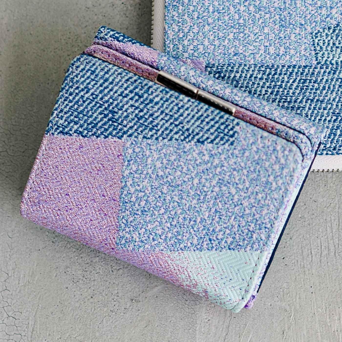 特別な西陣織の生地で作った 三つ折りがま口ミニ財布