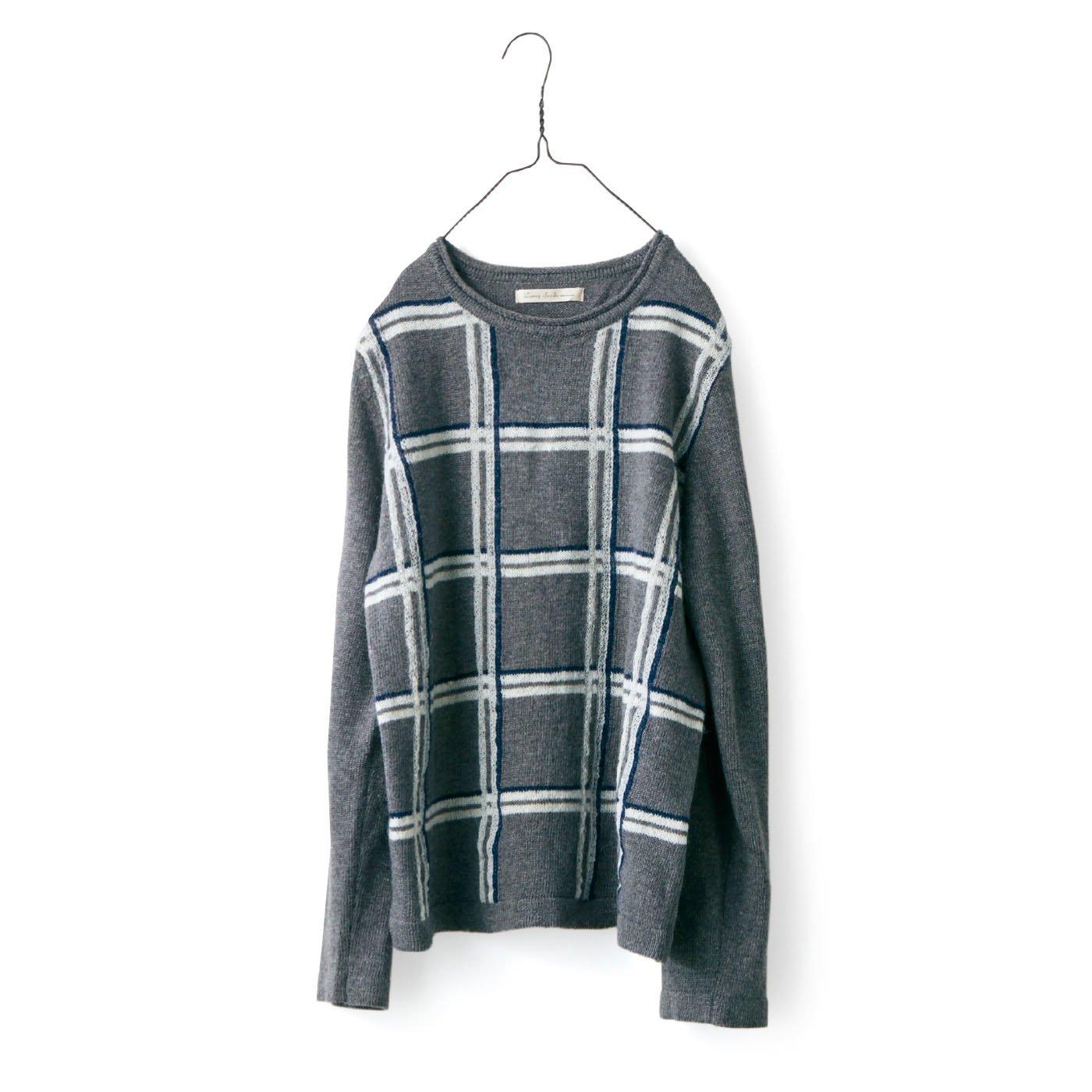 サニークラウズ チェックのセーター〈レディース〉A