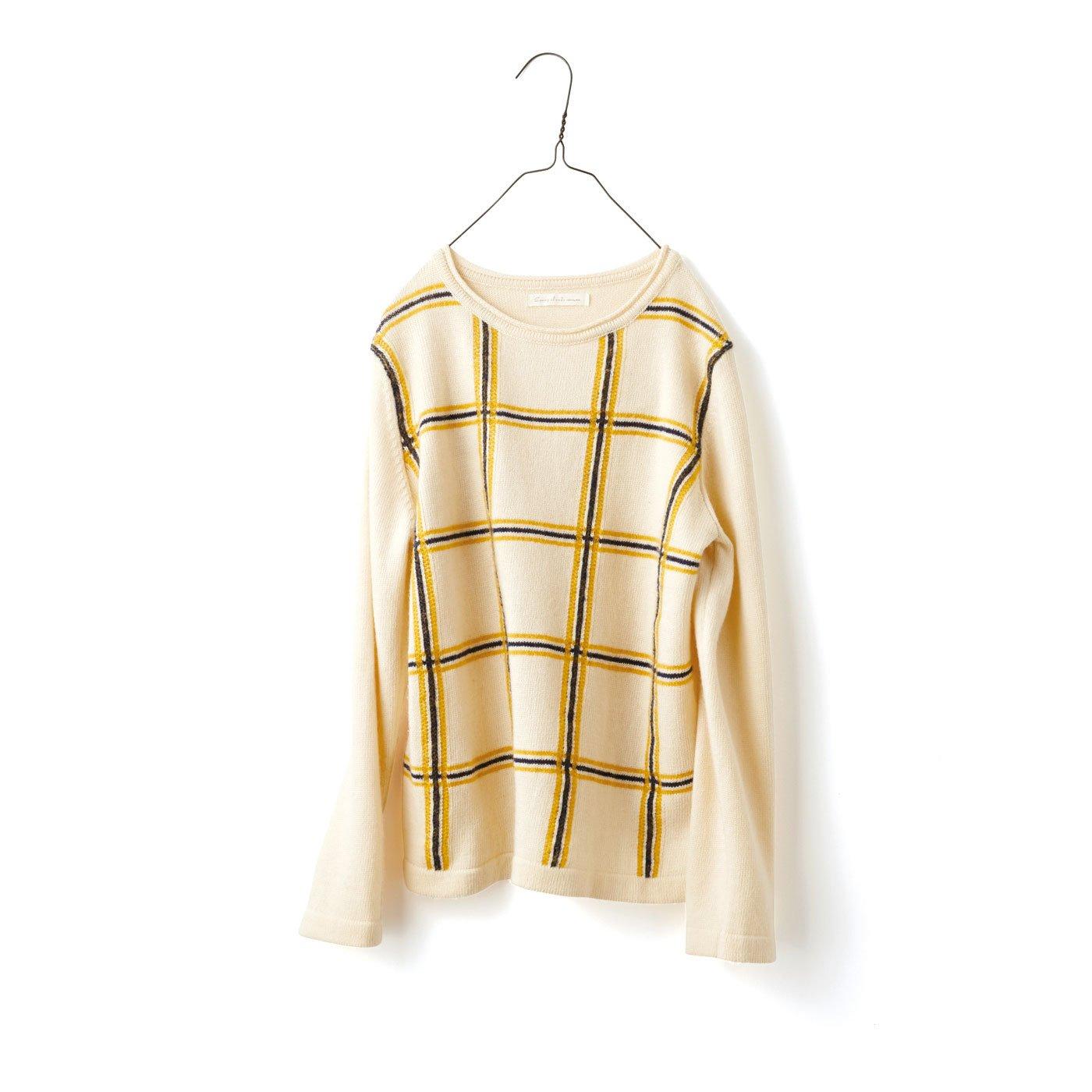 サニークラウズ チェックのセーター〈レディース〉B