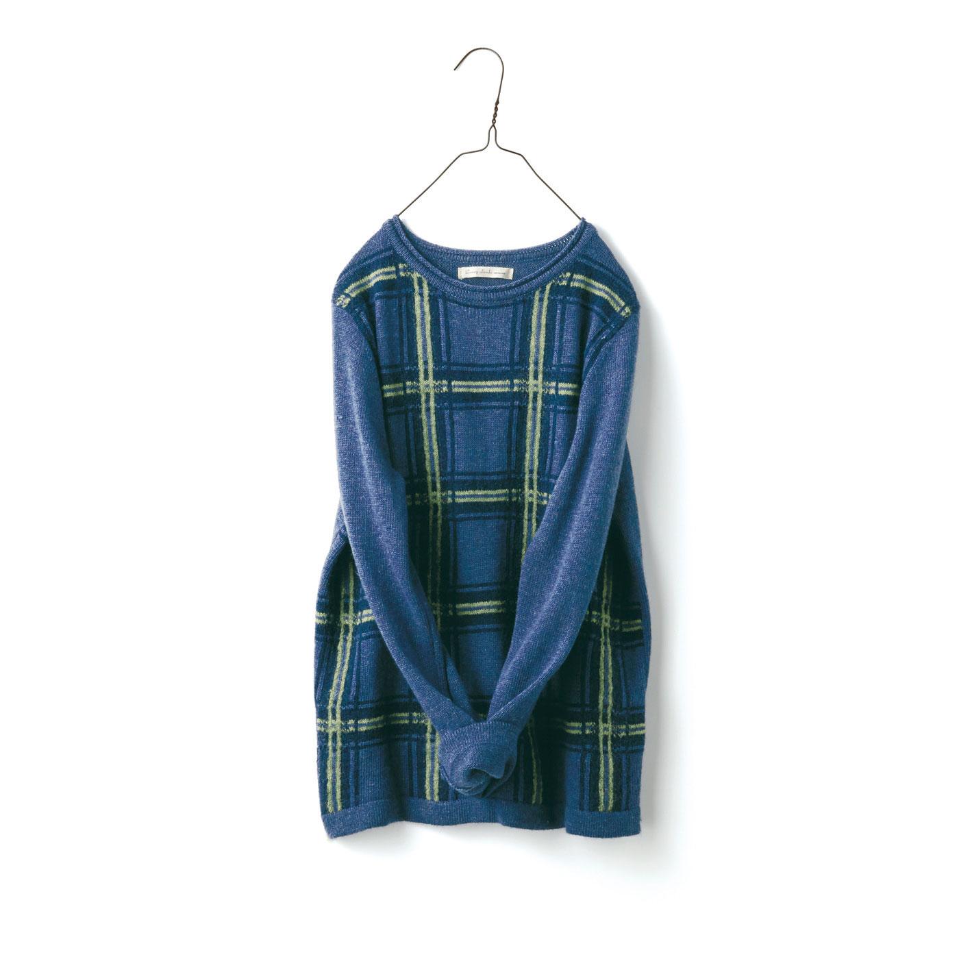 サニークラウズ チェックのセーター〈レディース〉C