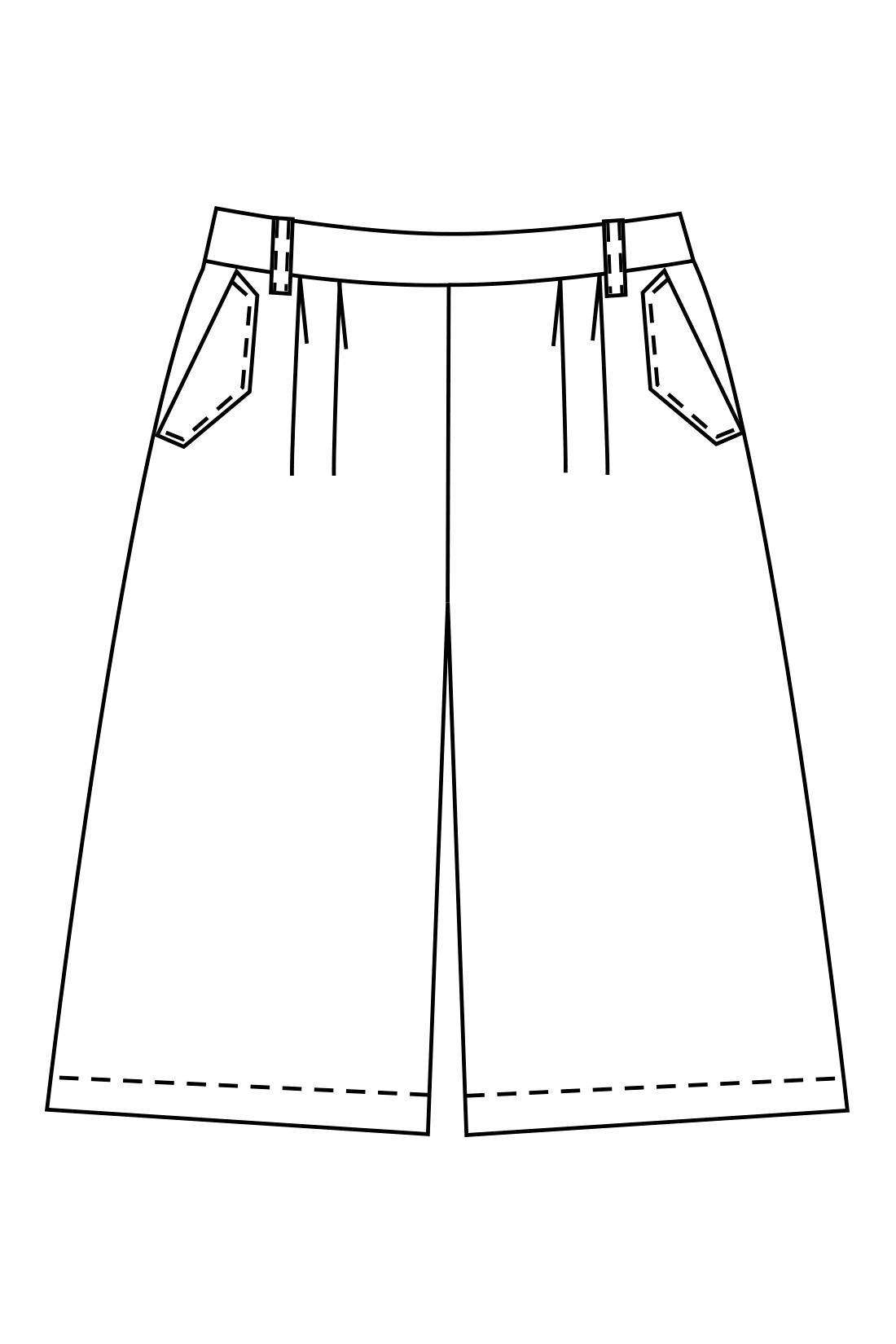 ボーイッシュにならず、スカート感覚ではけるAラインシルエットで女っぽく。