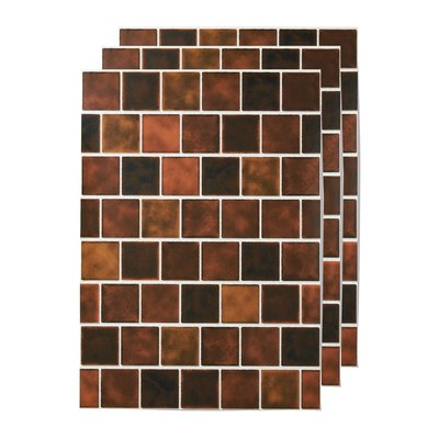 貼ってはがせる 壁紙シール〈ブラウンスクエアタイル〉の会 フェリシモ FELISSIMO