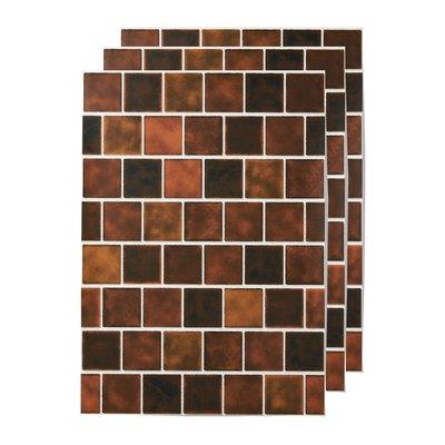 RoomClip商品情報 - 貼ってはがせる 壁紙シール〈ブラウンスクエアタイル〉の会 フェリシモ FELISSIMO