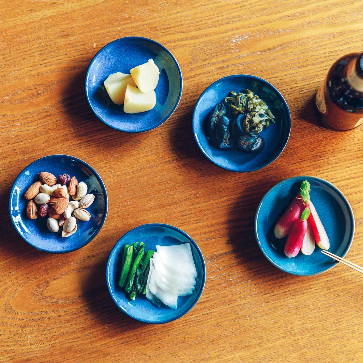 味わい深い青のボーイッシュ小皿の会