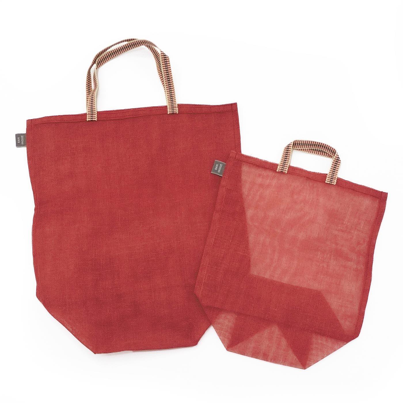 奈良の蚊帳生地で作った 持ち手付き袋セットの会