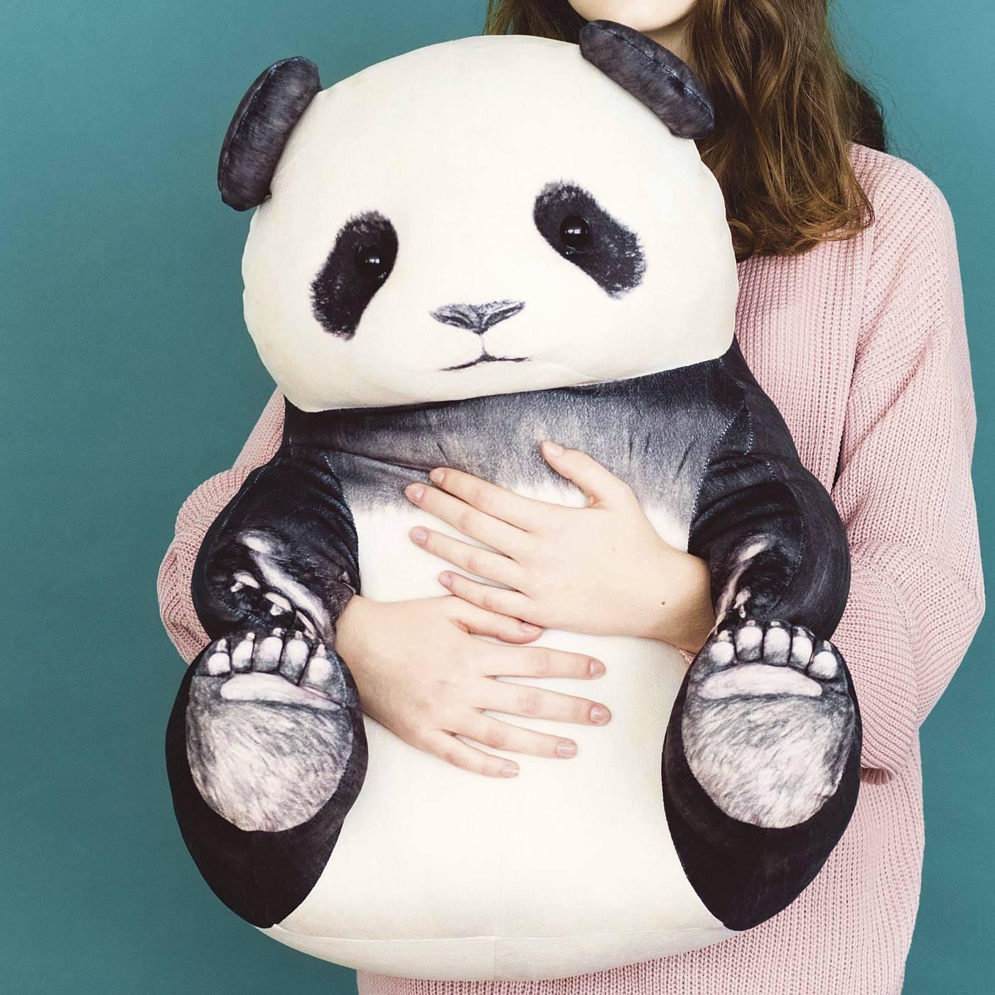 フェリシモ YOU+MORE! おすわりパンダのもっちりビッグクッション