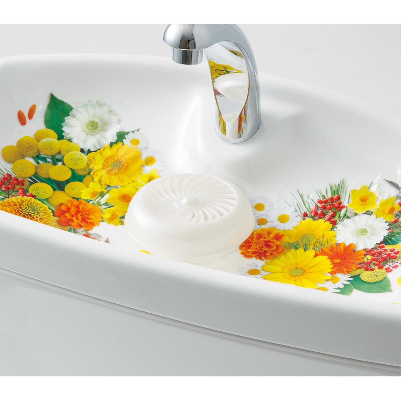 手洗いに置く洗浄消臭剤もセットできます。