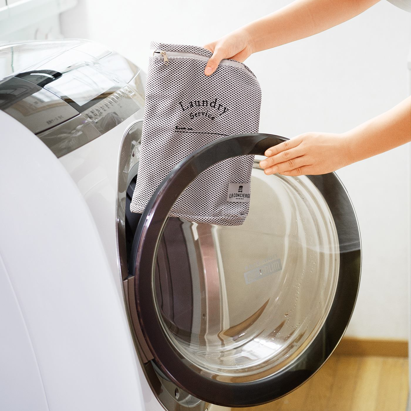 帰宅後は、そのまま洗濯機へポン!