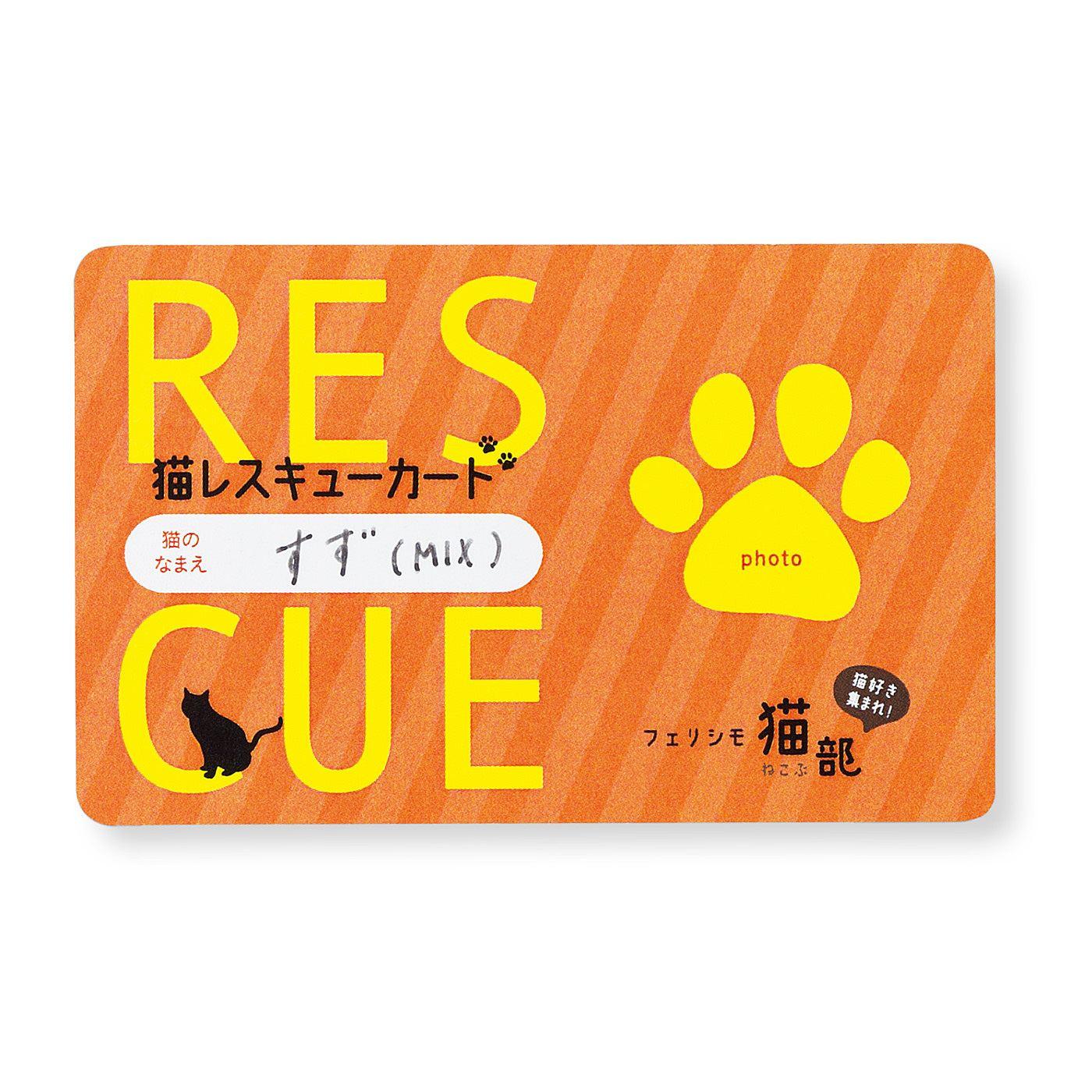 猫レスキューカード 自分が愛猫のお世話ができないもしものときのための情報を伝えます。お財布に入れて持ち歩いて。