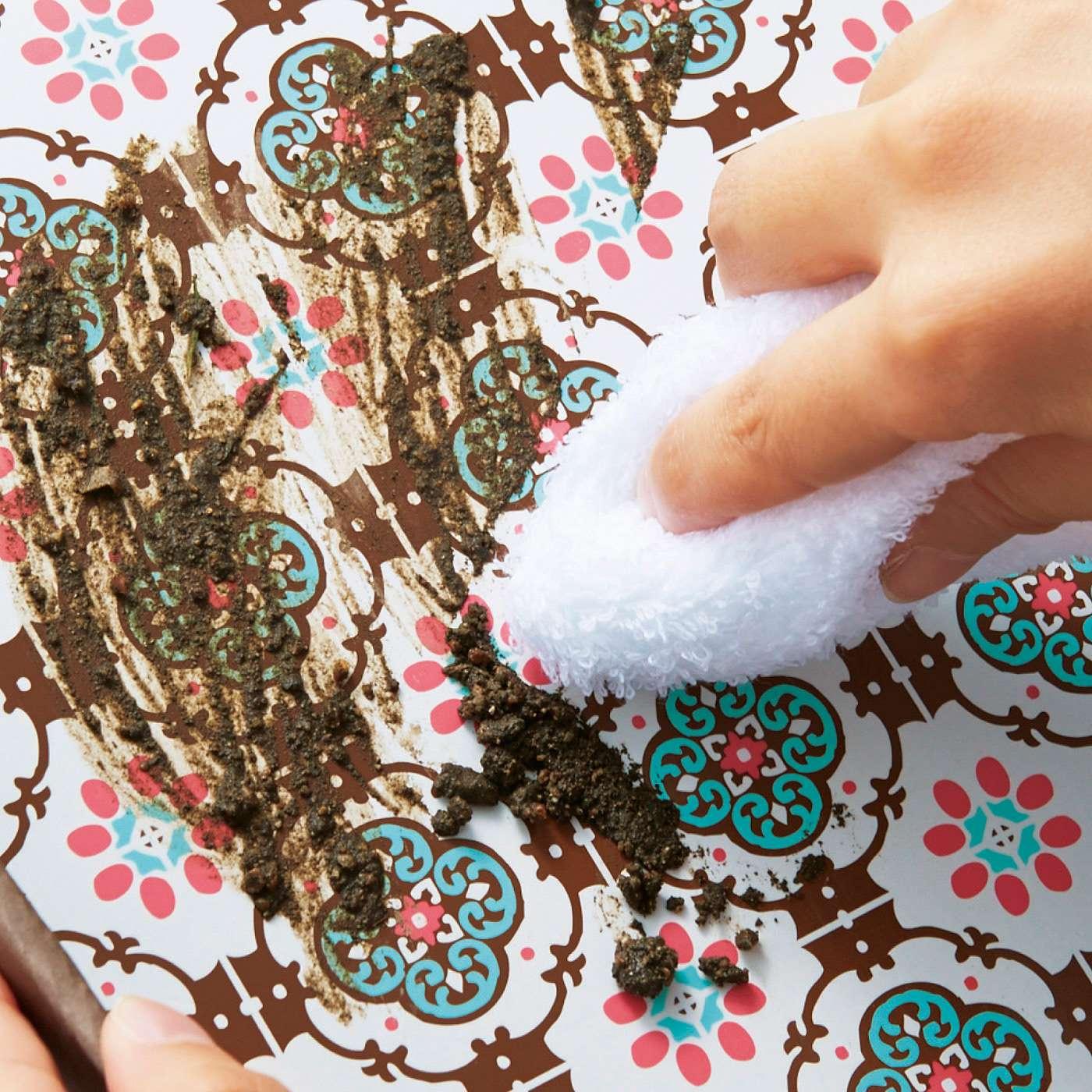 扉面の表面はつるりとした樹脂加工。汚れをサッとふき取れます。