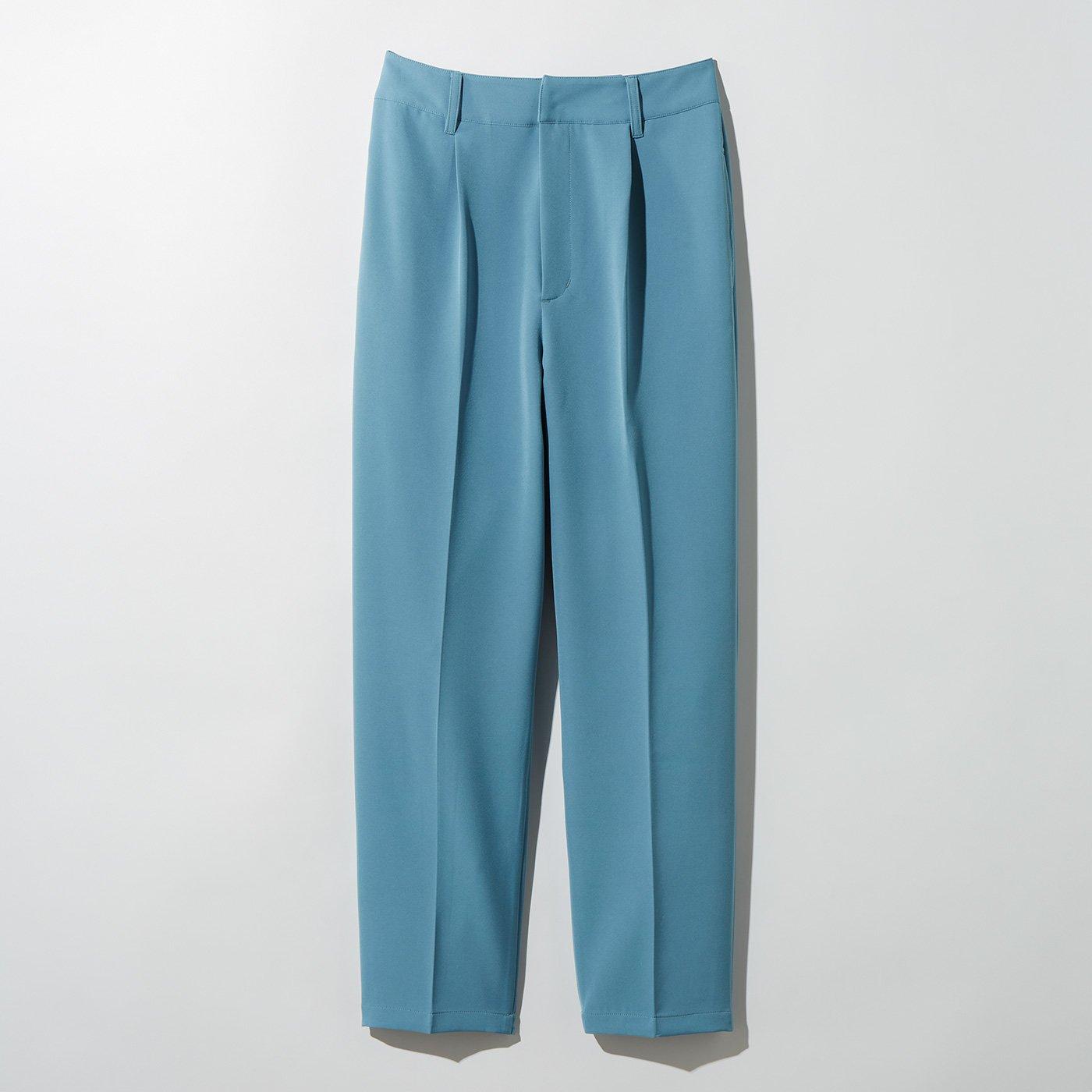 MEDE19F センタープレスカラーパンツ〈ブルー〉