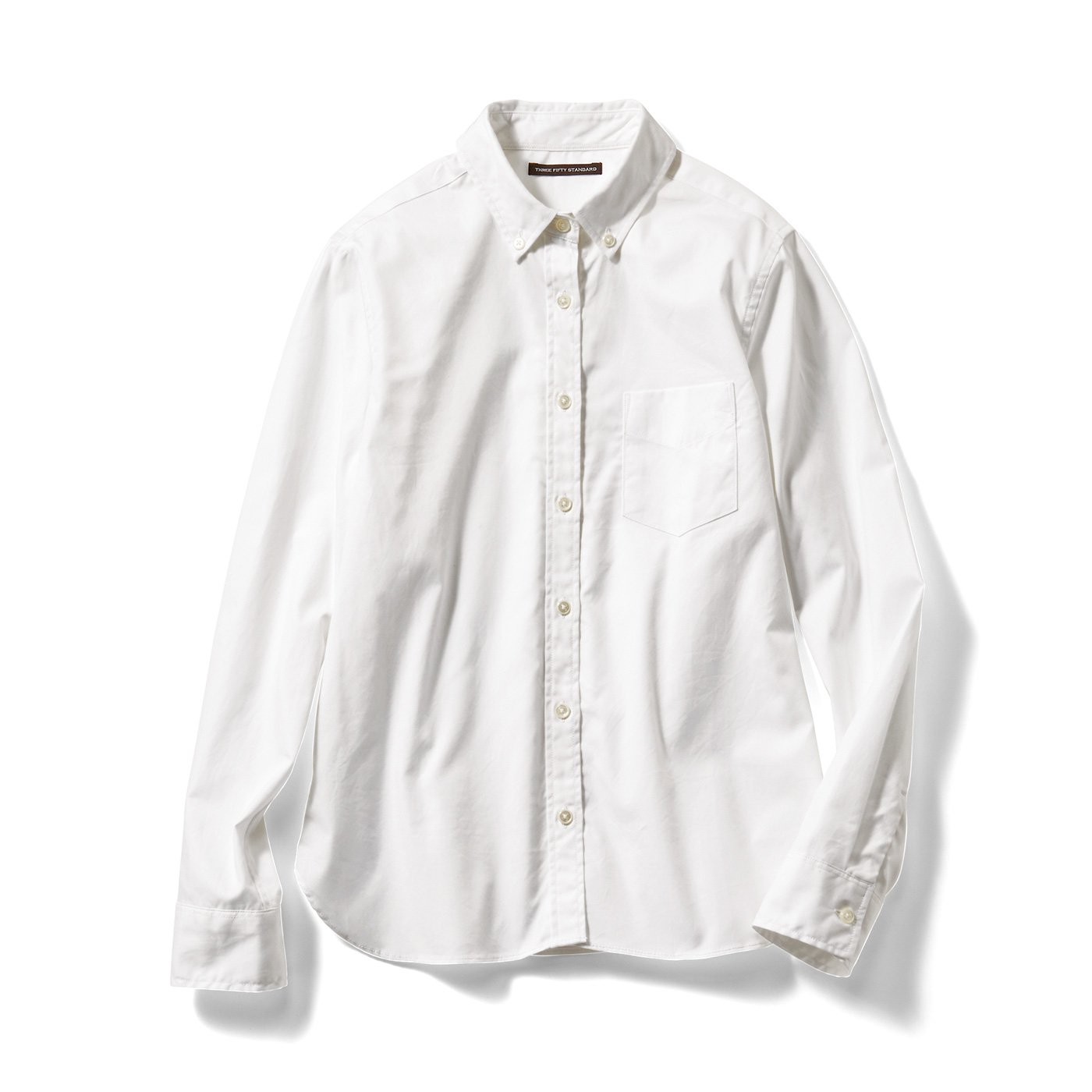THREE FIFTY STANDARD 定番ボタンダウンシャツ〈ホワイト〉