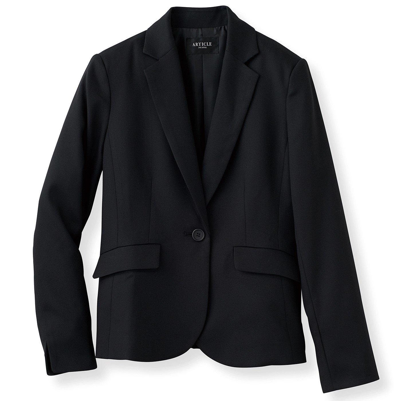 DRECOバイヤーズセレクト ツイル素材の正統派テーラードジャケット〈ブラック〉