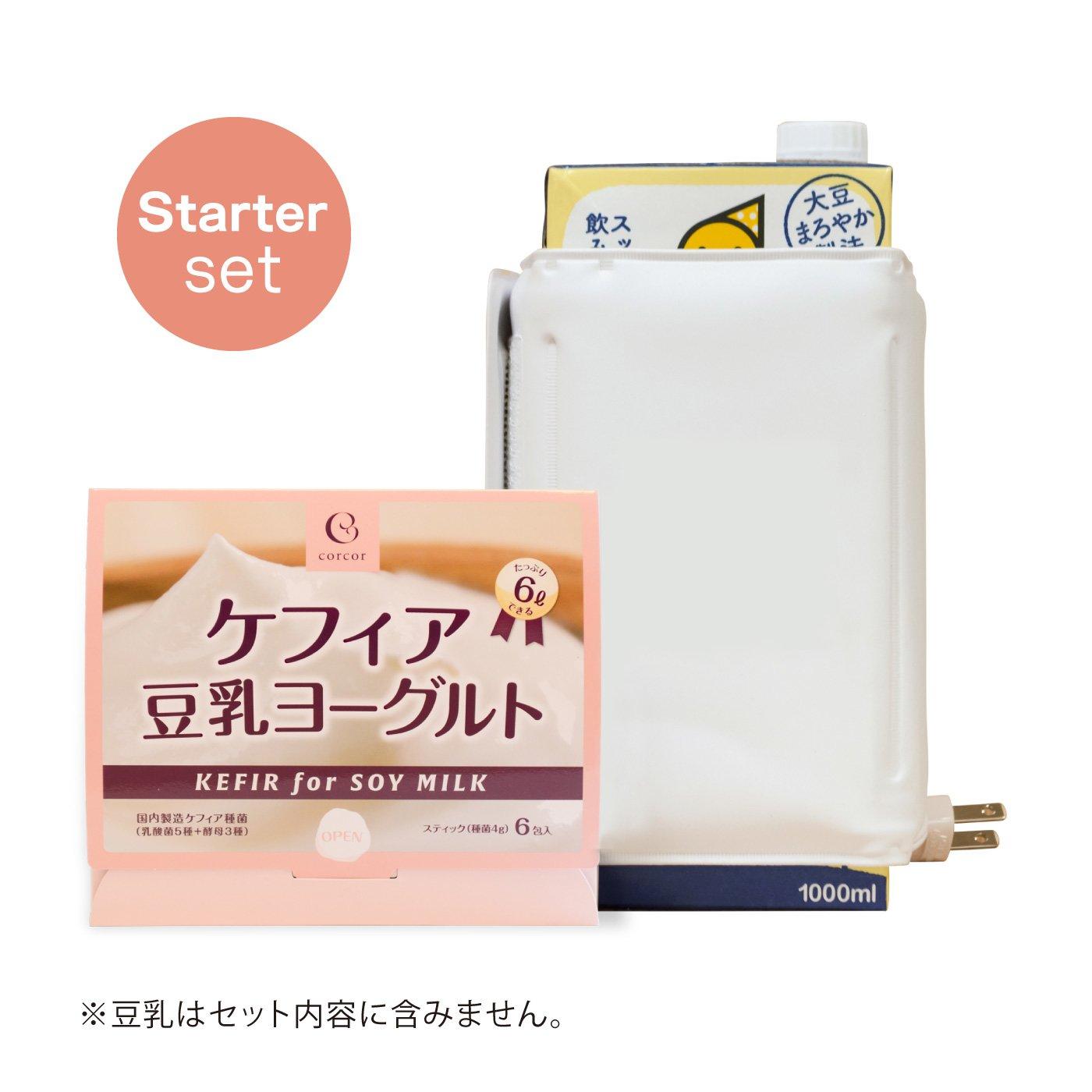 種菌と豆乳1Lでつくる ケフィア豆乳ヨーグルト スターターセット