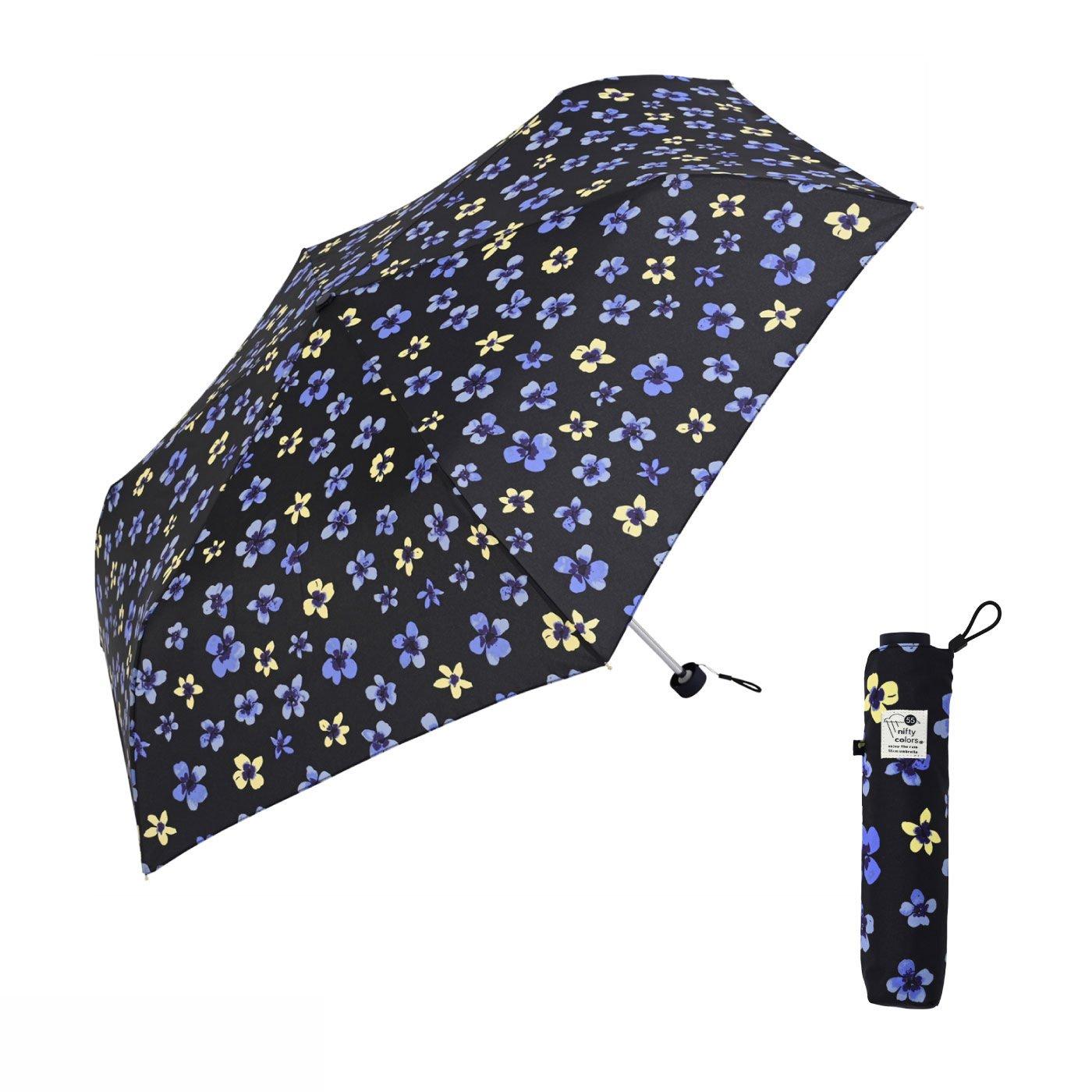 上品で可憐な印象に ちょっと大きめ55cmのスミレ雨傘