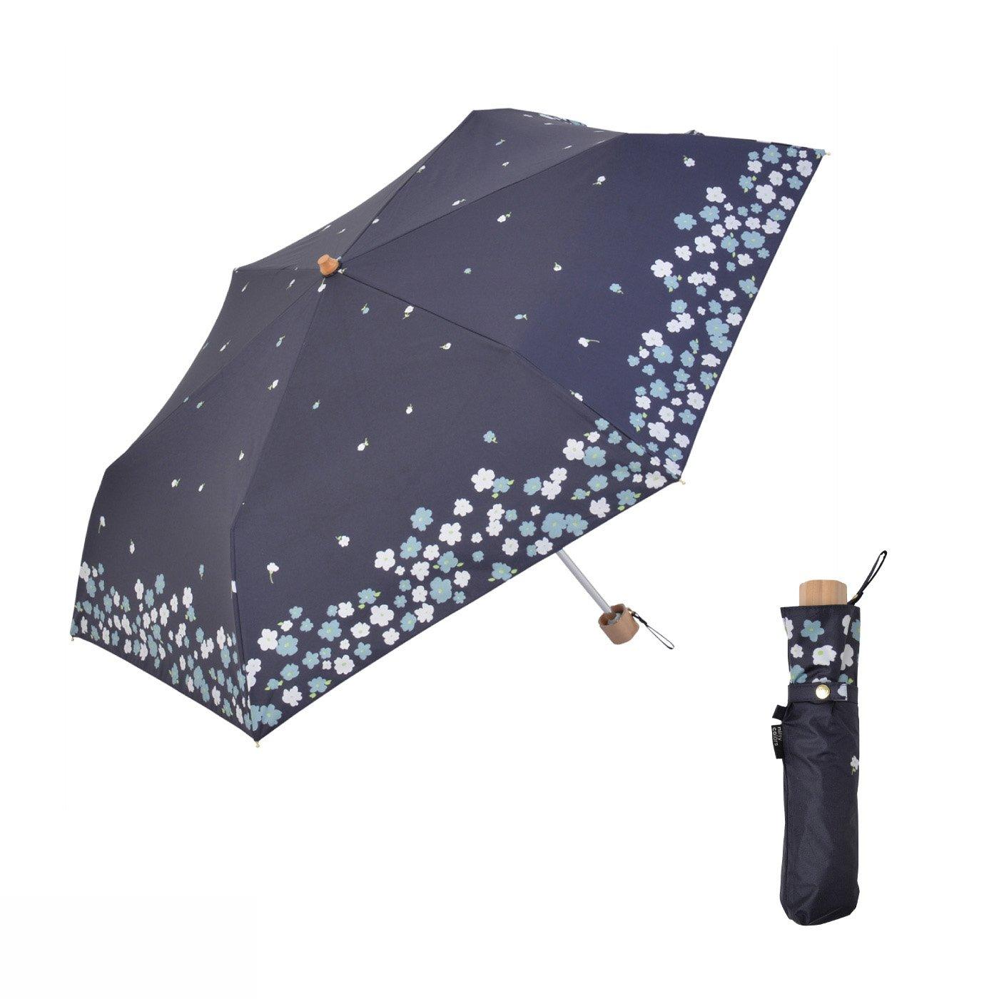 花の庭にいるみたい!折りたたみ遮光日傘ミニ フラワーガーデン