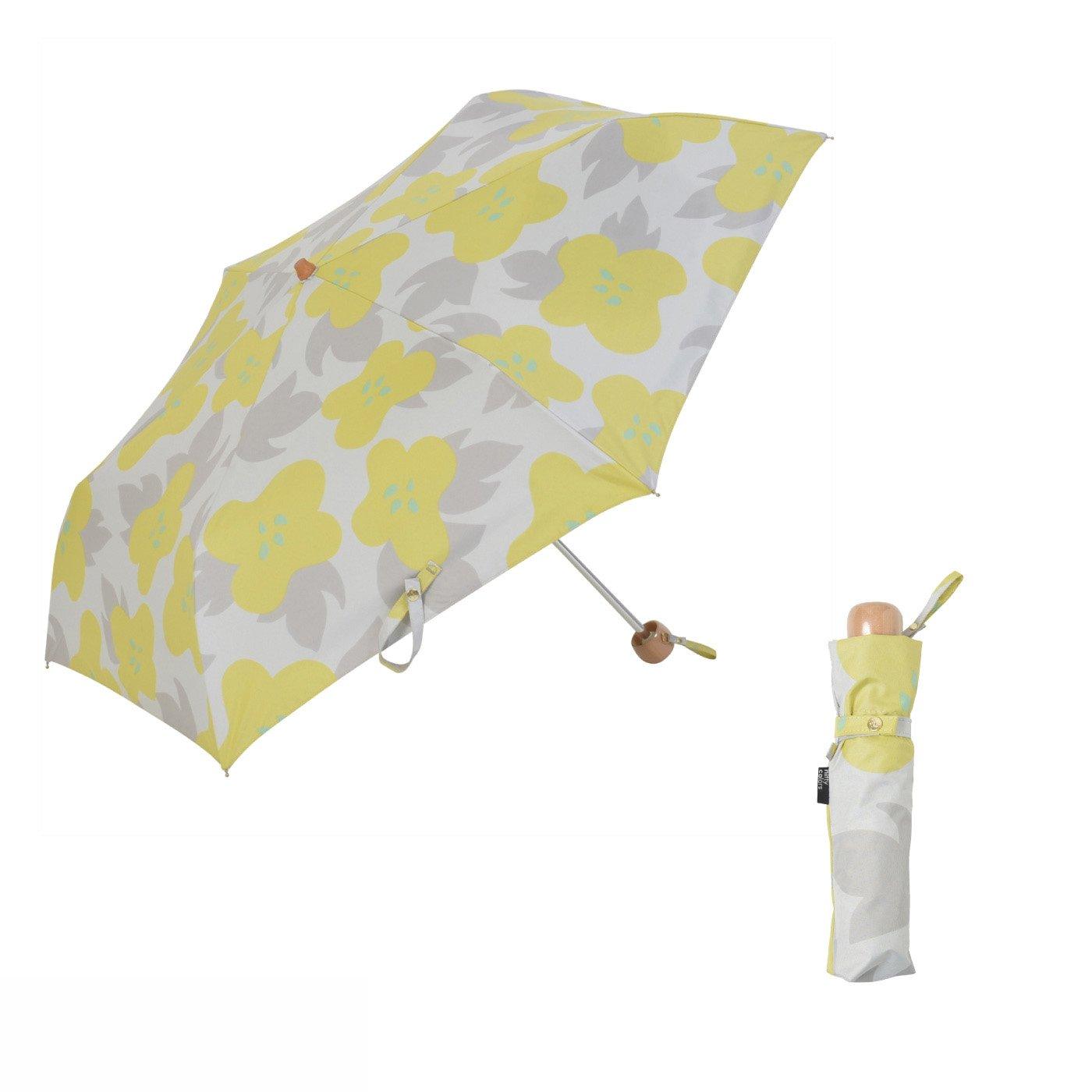 大胆な花柄がかわいい!晴雨兼用 折りたたみ遮光日傘ミニ イリマ