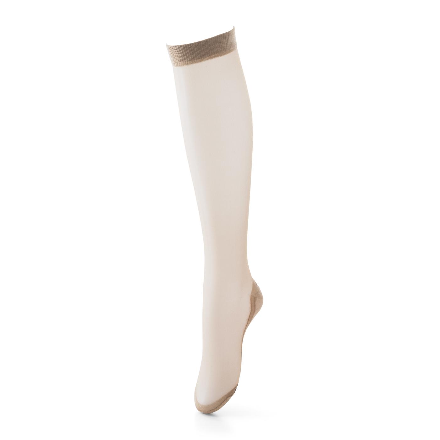 一見ストッキングなのに、靴の中は綿混素材の足裏生地でさらっと快適。