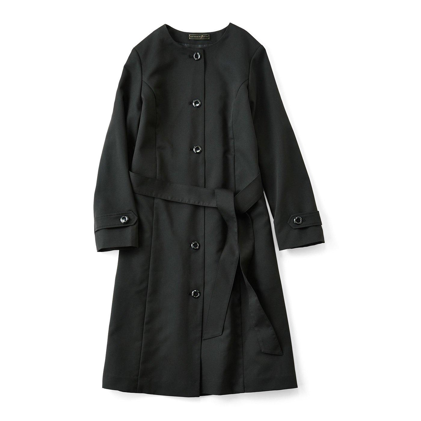 IEDIT[イディット] シーンを格上げする 撥水加工のドレスコート〈ブラック〉