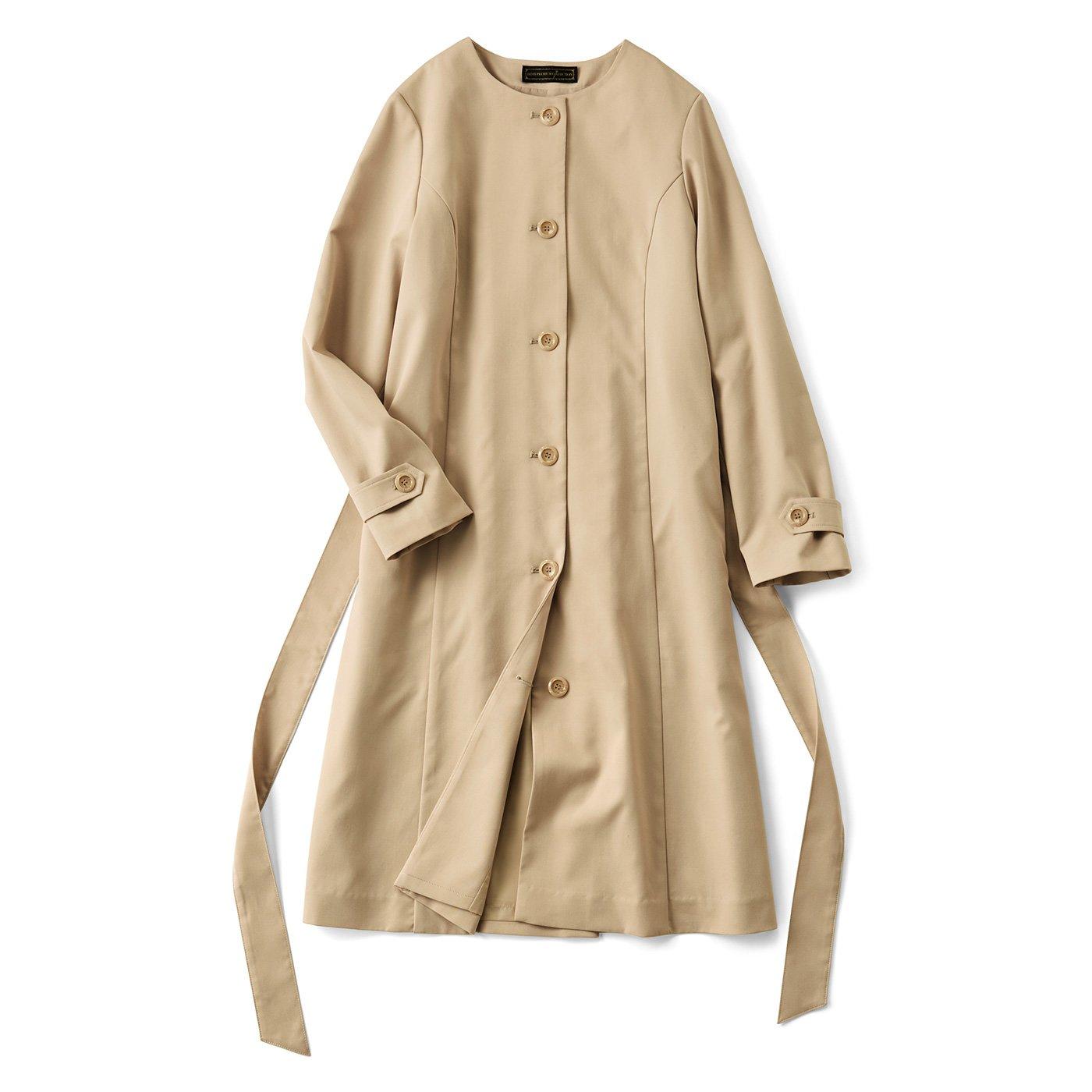 IEDIT[イディット] シーンを格上げする 撥水加工のドレスコート〈ベージュ〉