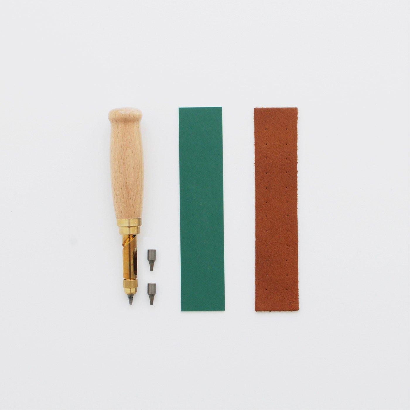 スクリュー式ポンチ1.5mm替え刃3個セット(作業用マット付き)