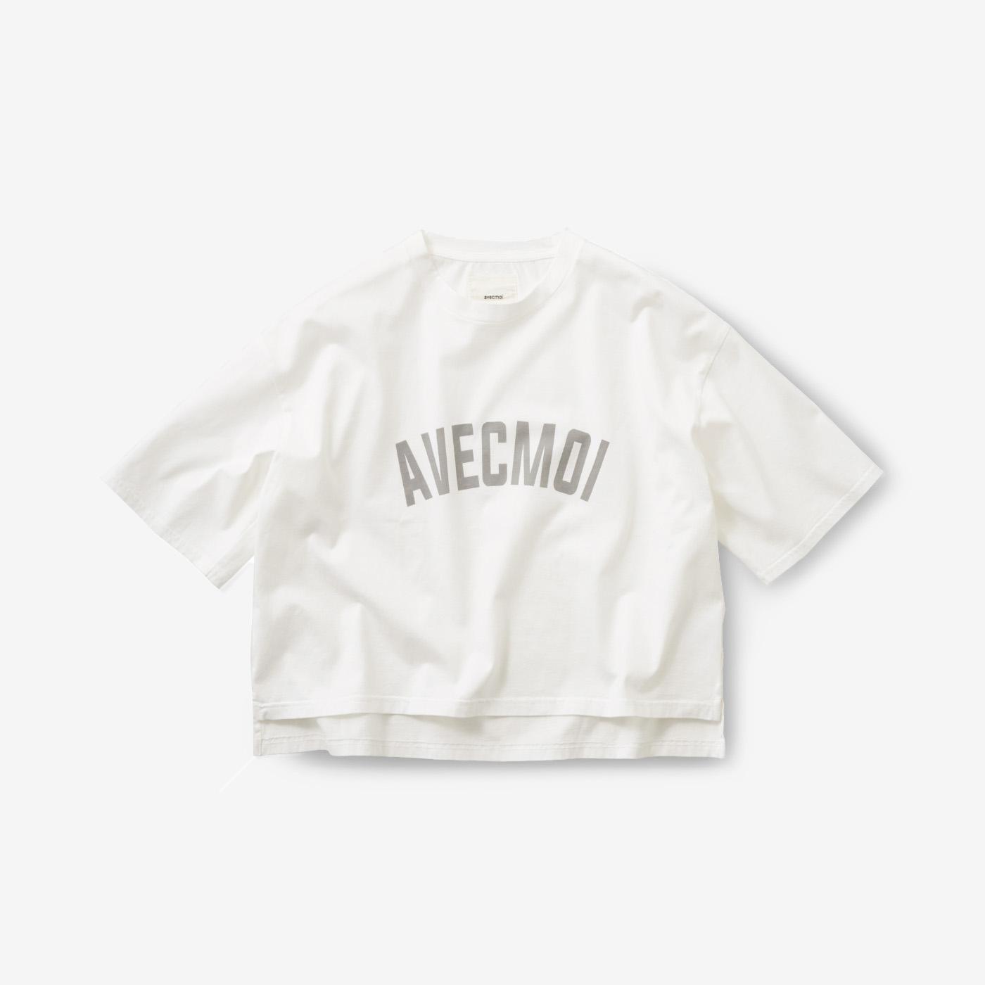フェリシモ avecmoi ロゴTシャツ〈ホワイト〉