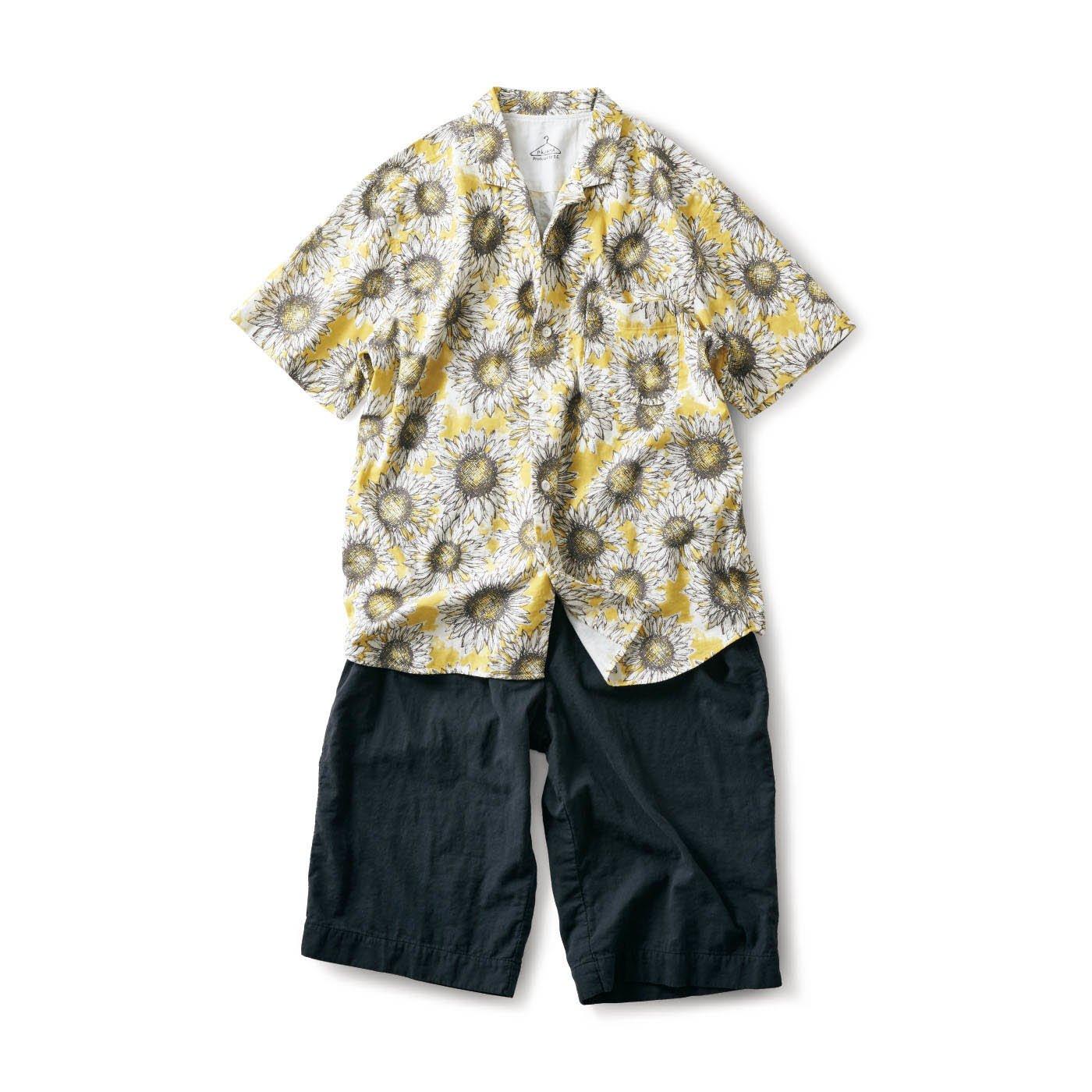 サニークラウズ にっこりひまわりパジャマ〈メンズ〉